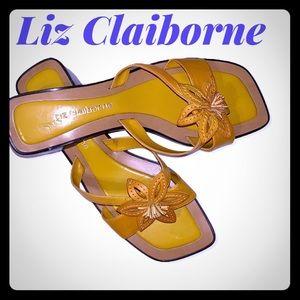 Liz Claiborne leather Slide Sandals